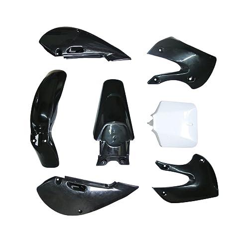 uaus embellecedores de plástico cuerpo Kit blanco 7pcs para Dirt Pit Bike KLX 110 drz110 KLX