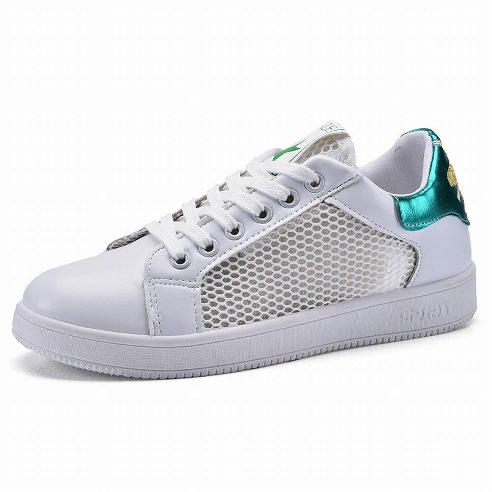 Atmungsaktives Mesh Weiß Schuhe Niedrig Helfen Beiläufige Schuhe Frauen Schuhe Student Net Schuhe (Farbe   Grün Größe   39)