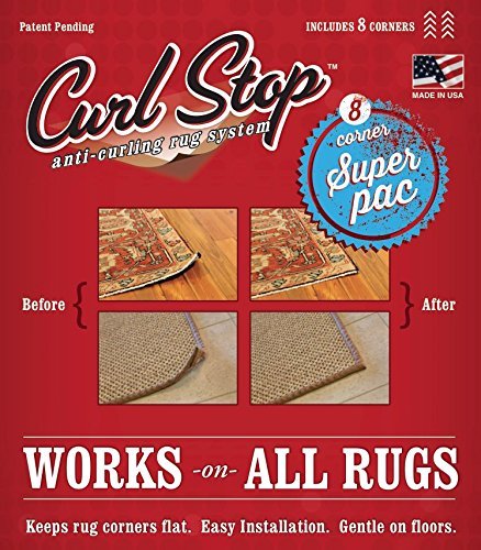 Amazon Com Curl Stop Anti Curling Rug System Super Pac Of 8