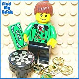 M402 Lego Dealer Lady CUSTOM Minifigure with Casino Table Gold Coins & Money [ NEW Lego Sold Loose as Image Show ]