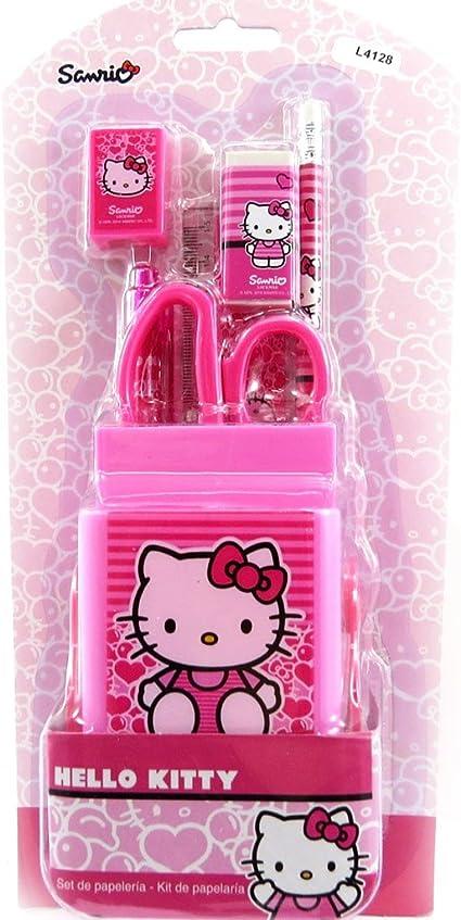 Set escolar Hello Kittysubió.: Amazon.es: Oficina y papelería