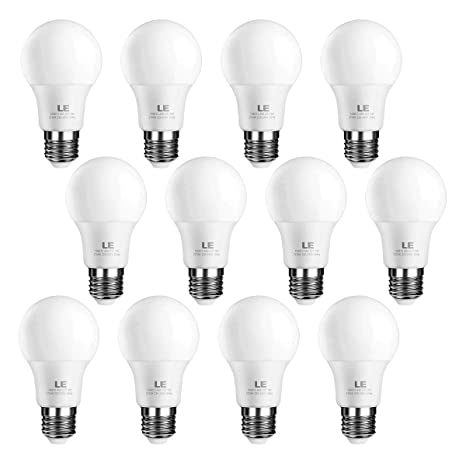 LE Bombillas LED, E27 9W Equivalente 60W Incandescente, Blanco cálido 2700K bajo consumo, Pack de 12
