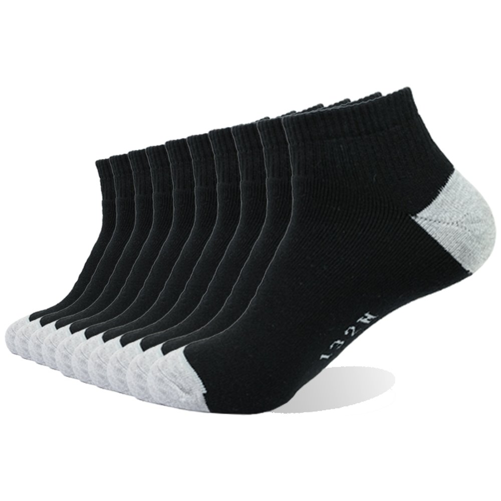 Enerwear 10P Pack Men's Cotton Moisture Wicking Extra Heavy Cushion Low Cut  Socks (Black, US 10 – 13): Amazon.in: Clothing & Accessories