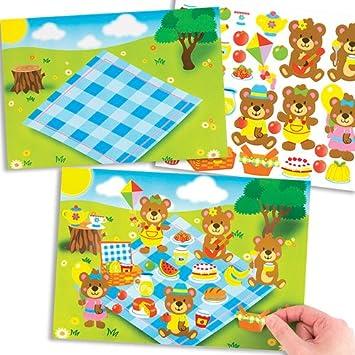 Baker Ross Teddy Bear Picnic Sticker Scenes For Children To