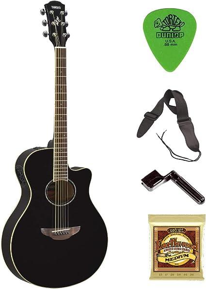 Yamaha APX600BL Thinline Guitarra acústica eléctrica con cuerdas ...