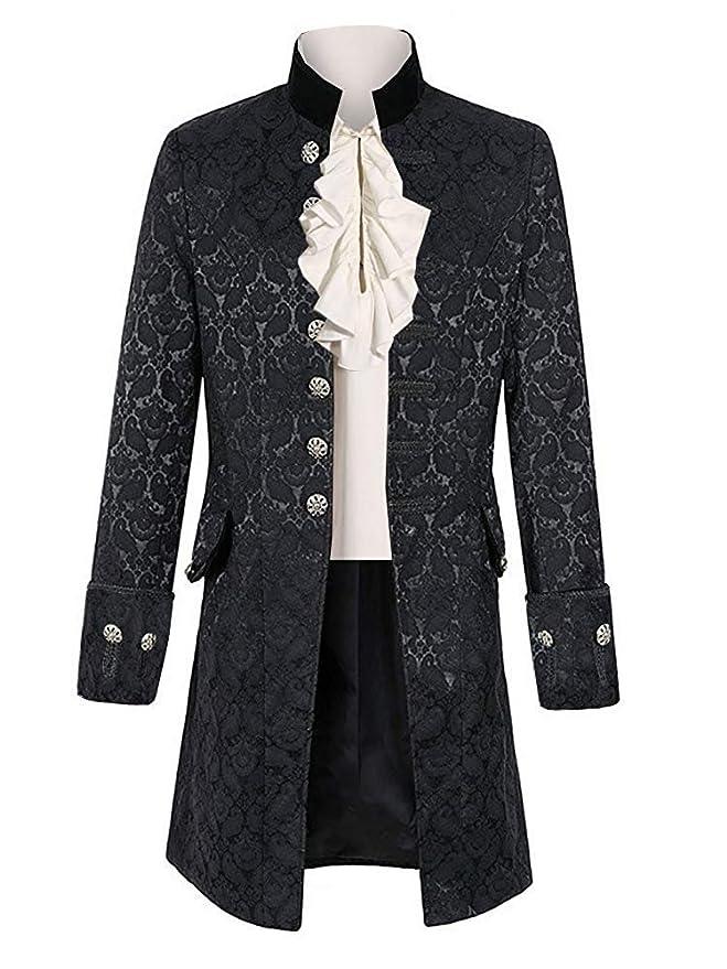 Masquerade Ball Clothing: Masks, Gowns, Tuxedos Taoliyuan Mens Victorian Costume Steampunk Jacket Gothic Renaissance Medieval Adult Cosplay Formal Coat $48.98 AT vintagedancer.com