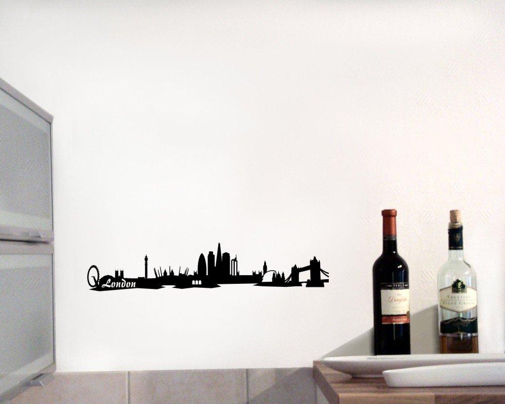 Gewaltig Wandtattoo Berlin Referenz Von Plot4u London Skyline Wandaufkleber Schwarz 30x6cm: Concept.de: