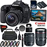 Canon EOS 80D DSLR Camera + 18-55mm Lens + Canon EF 24-105mm f/4L IS II USM Lens + 128GB Memory Card International Version