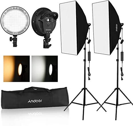 Neewer LED Softbox Lighting Kit 20x28 inches Softbox 48W Dimmable 2-color LED Light Head with Battery Compartment and Light Stand for Indoor//Outdoor Photography Battery Not Included