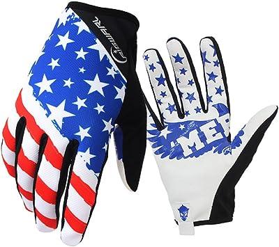 Guantes de bicicleta MTB con diseño de patrón bandera americana ...