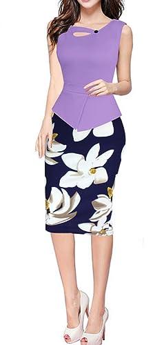 HIMONE Women's Elegant Chic Bodycon Formal Dress