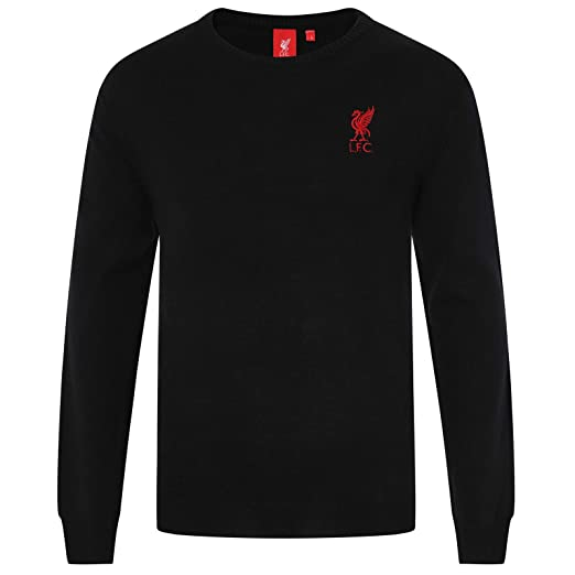 eb56bee54 Liverpool FC Official Soccer Gift Mens Crest Knitted V-Neck Jumper Navy Blue  at Amazon Men s Clothing store