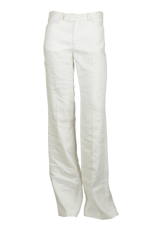 0c1cc0b2d5 Joseph Womens White Rocker Stretch Linen Blend Trouser Pants 36 at Amazon  Women s Clothing store