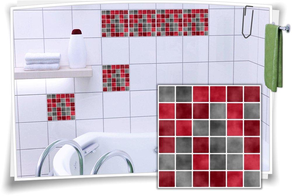 Fliesenaufkleber Fliesenbild Fliesen Aufkleber Sticker Fliesenimitat Mosaik M2
