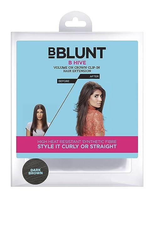 Bblunt B Hive Volume On Crown Clip On Hair Extension Dark Brown