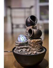 Zen' Light Nature Verso Fuente, Resina, Bronce, 17x 17x 25cm