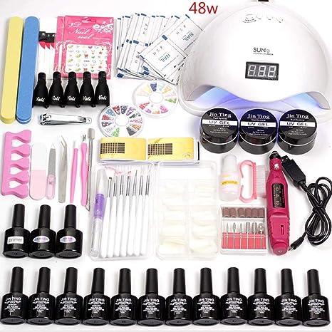 Uñas 36W / 48W / 80w máquina kit manicura permanente completo Gel ...