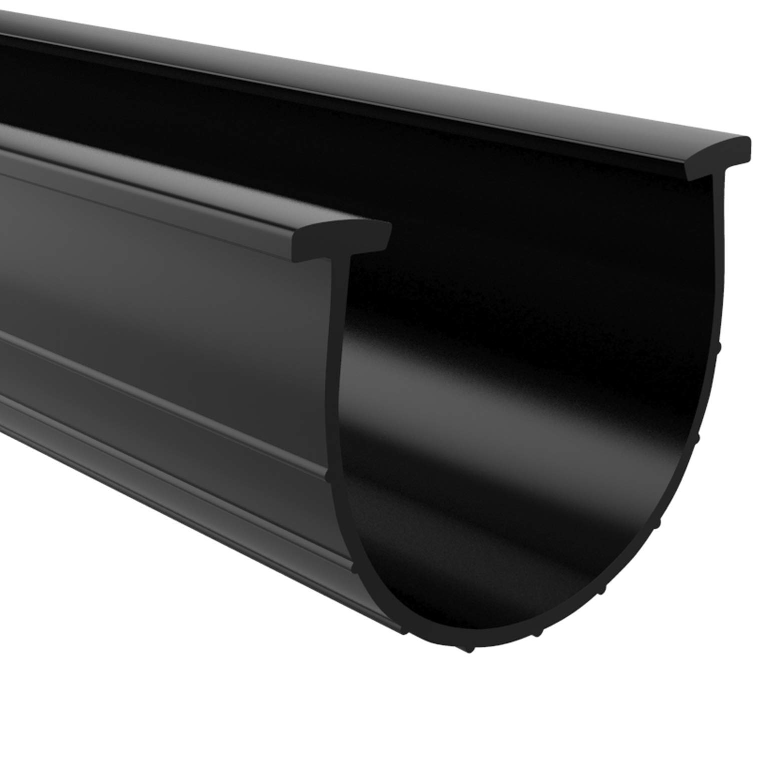 Garage Door Bottom Weather Seal T Ends 20' Long and 2 3/4'' 3'' Width (3'' 3 1/4'' Flat), Black Strip with T Ends Size 5/16'' | Garage Rubber Seal Replacement T Style Match Amarr/Clopay & More. by HOOIMA
