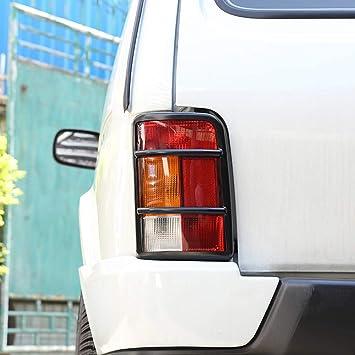 DIYUCAR 2 protectores de aleación para faros traseros de coche para accesorios NIVA