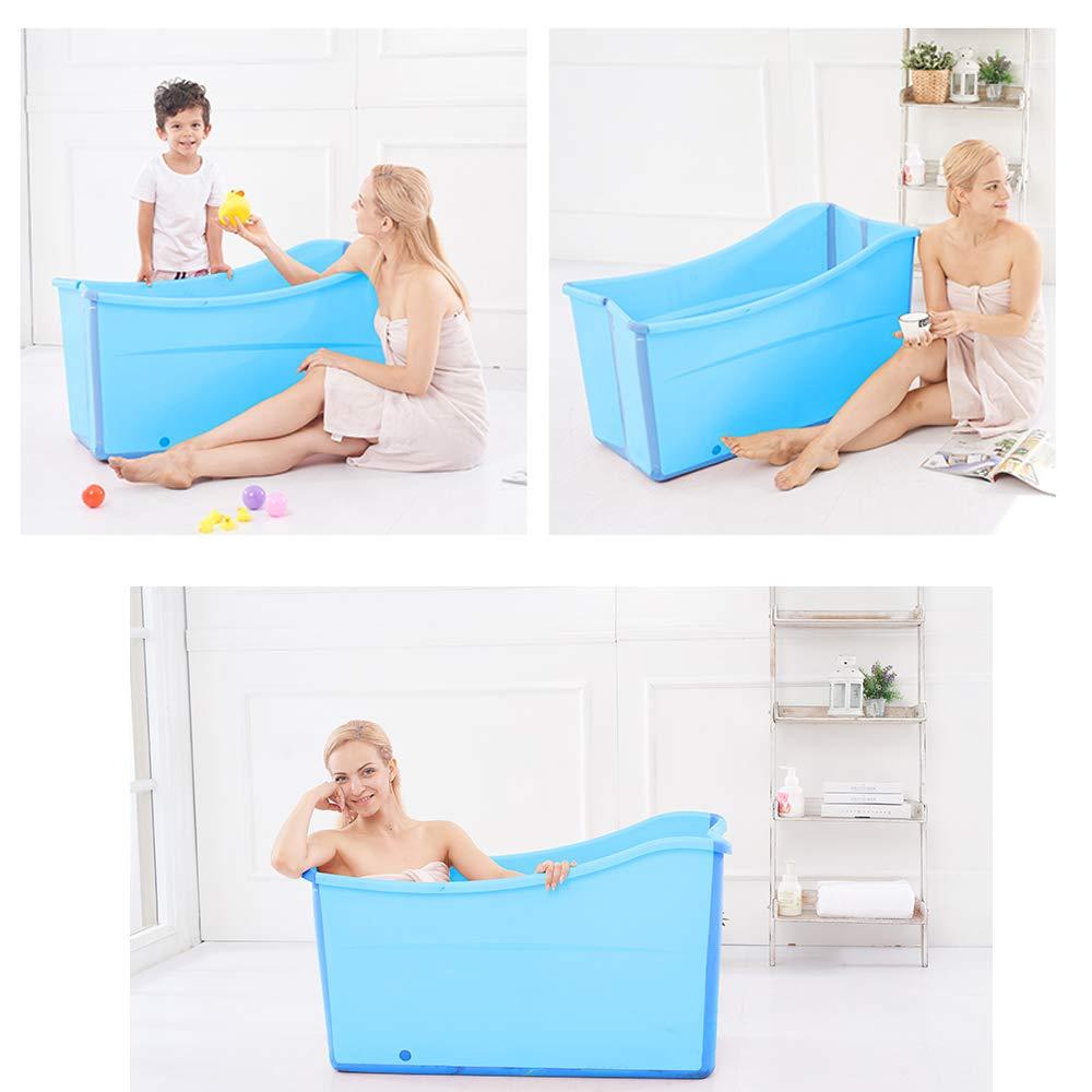 Weylan Tec Large Foldable Bath Tub Bathtub For Adult Children Baby Toddler Blue by Weylan Tec (Image #3)
