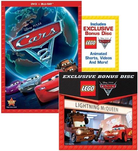 Cars 2 (2-Disc Combo Pack + Exclusive LEGO Bonus Disc) [Blu-ray + DVD] (Legos At Target)