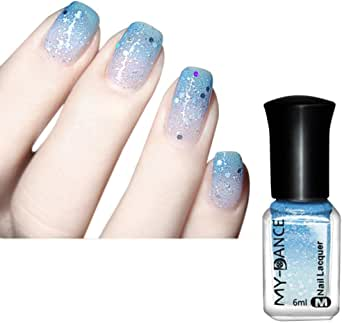 Gillberry Surprise Thermal Nail Varnish Color Changing Ultra Holographic Nail Polish