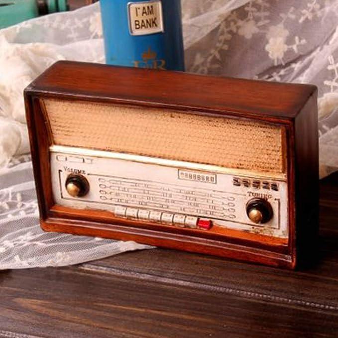 EXCEART Modelo de Radio Vintage Adornos de Mesa de Resina ...