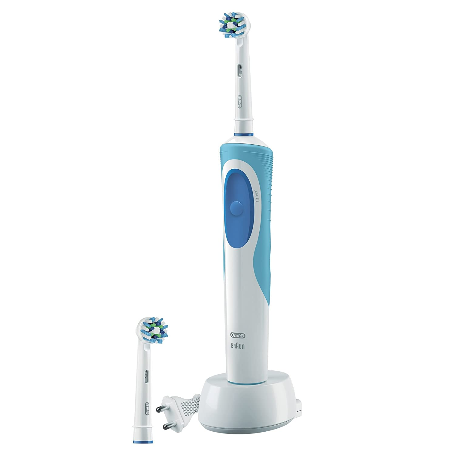 Cepillo de dientes eléctrico Oral-B Pro Vitality Cross Action, recargable, color azul: Amazon.es: Salud y cuidado personal