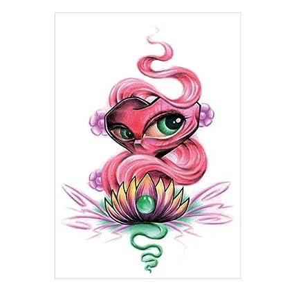 Impermeable desprendible pairkal brazo Flores tatuaje etiqueta ...