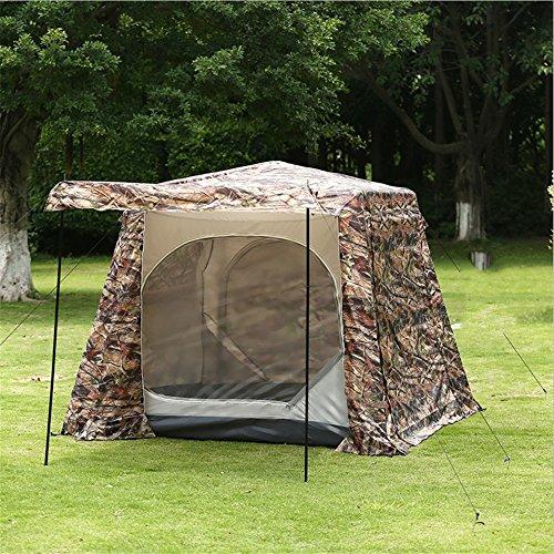 抱擁イライラする地獄新しい迷彩プリントダブル屋外キャンプテント防水蚊帳ウィンドウ5-8テント
