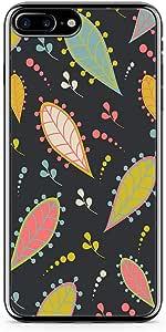 iPhone 7 Plus Transparent Edge Phone Case Aplique Phone Case Dark Petals iPhone 7 Plus Cover with Transparent Frame