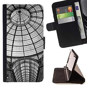 Jordan Colourful Shop - Architecture New York Metro Station For Sony Xperia Z1 L39 - < Leather Case Absorci????n cubierta de la caja de alto impacto > -