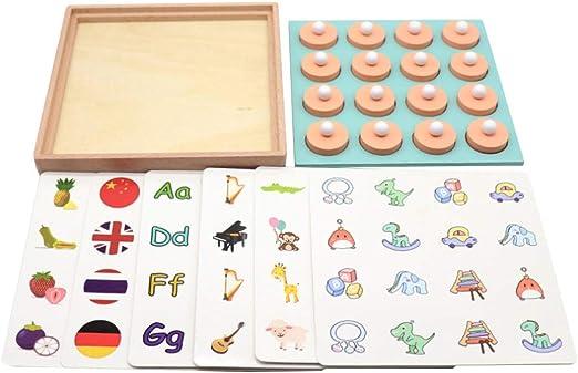 SimpleLife Juegos de Memoria de Madera Juegos de Mesa educativos tempranos para niños Fiesta Familiar Juegos Casuales Rompecabezas Regalos: Amazon.es: Hogar