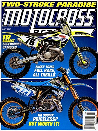(MOTOCROSS Action Magazine July 2017 TWO STROKE MOTORCYCLES, HUSKY TC250, TM300MX)