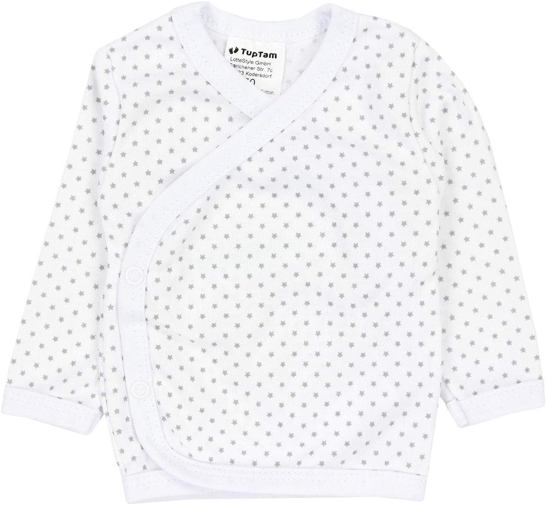 TupTam Baby Boys Side Snap Shirts Long Sleeve Pack of 5