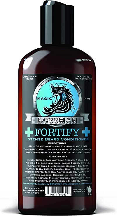 5 Best Beard Conditioner For Black Men - Bossman Fortify
