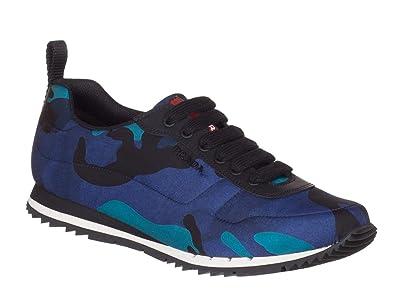 Prada Men s Blue Camouflage Nylon 4E3220 Low Top Sneakers Shoes 6c856622f871
