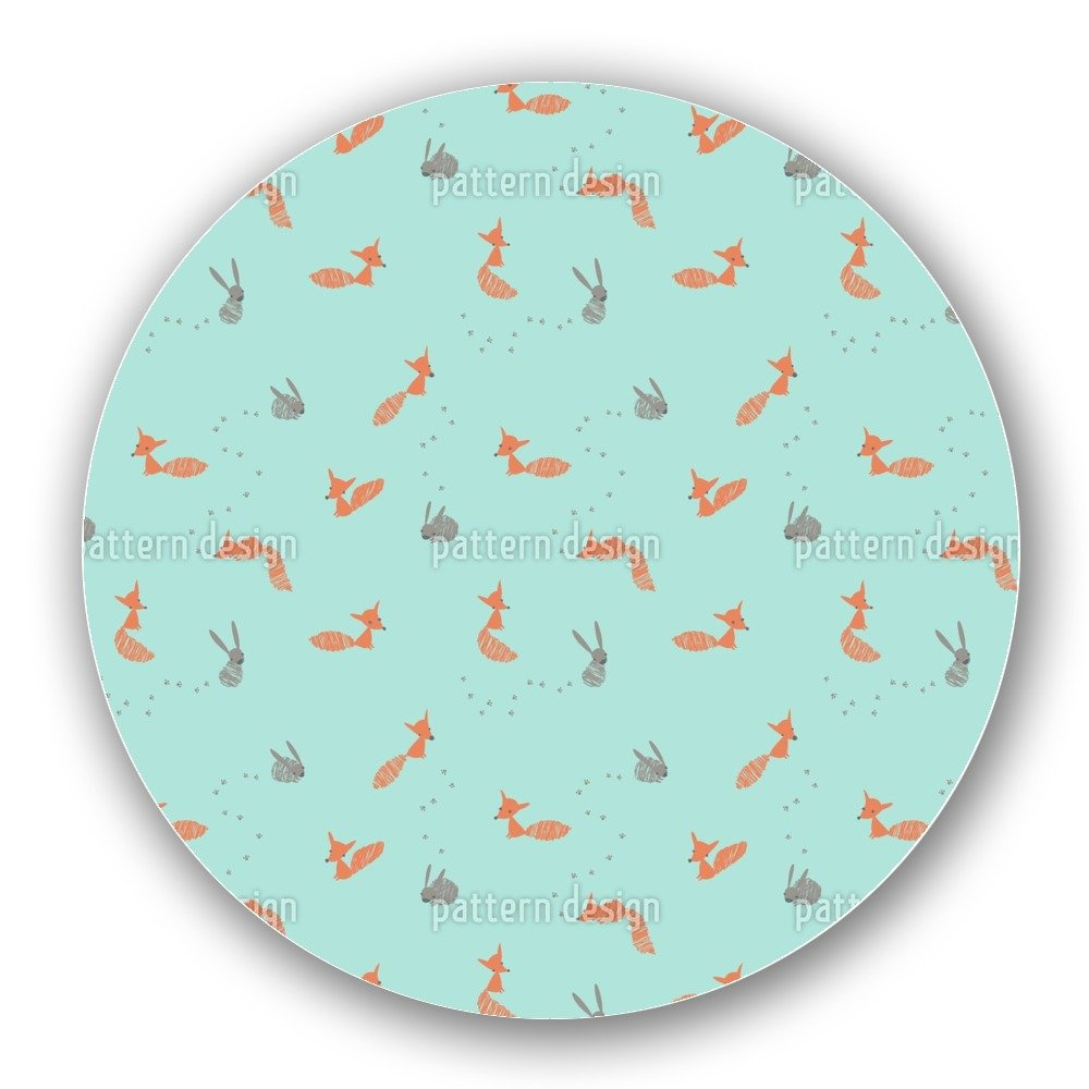 Uneekee Funny Animals in the Forest Lazy Susan: Large, Dark Wooden Turntable Kitchen Storage