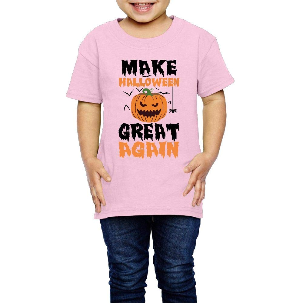 XYMYFC-E Make Halloween Great Again 2-6 Years Old Boys /& Girls Short-Sleeved Tshirts