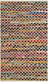 Safavieh Cape Cod Collection CAP302A Handmade Natural and Multicolored Jute Area Rug (3' x 5')