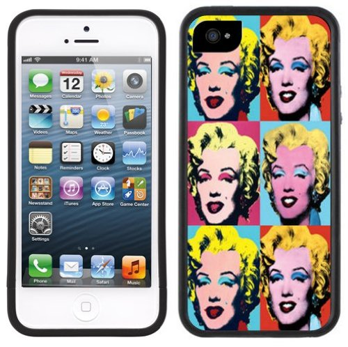 Andy Warhol Marilyn | Handgefertigt | iPhone 5 5s SE | Schwarze Hülle