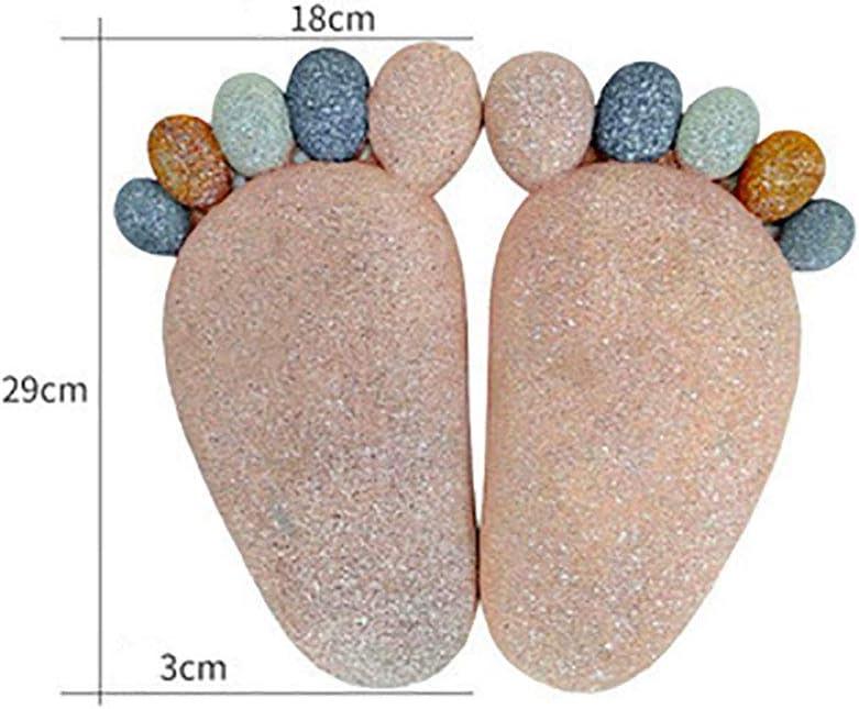 Pebbles Feet Stepping Stone,River Rock Paving Stones Courtyard Garden Decoration Outdoor Tiles A