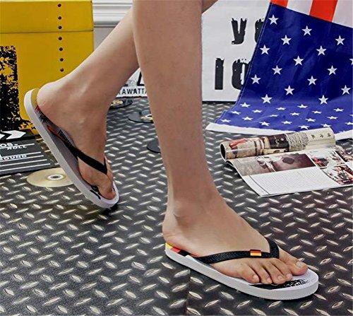 Weiyin Menns Dusj Strand Sandal Flip-flop Gummi Fottøy Tyskland
