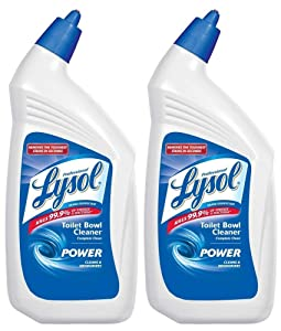 Lysol Professional Disinfectant Toilet Bowl Cleaner with Advanced Deep Cleaning Power, 32 Oz (2 Pack)