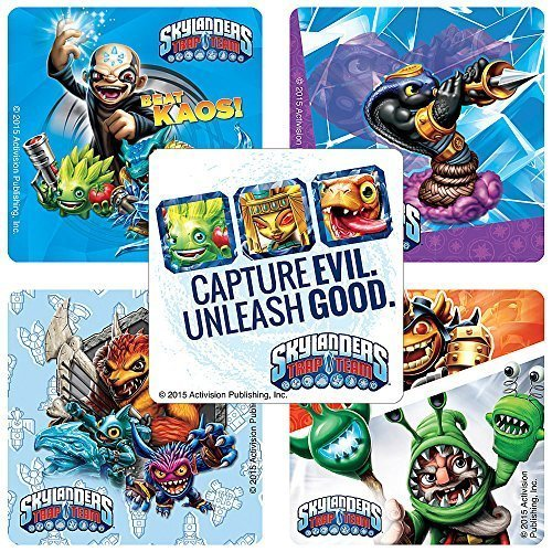 Skylanders Trap Team Stickers - Birthday and Theme Party Favors - 100 Per (Skylanders Stickers)
