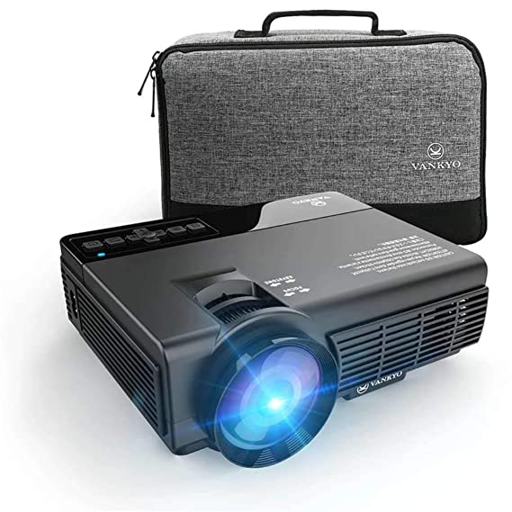 Review VANKYO LEISURE 3 (Upgraded Version) LED Portable Projector with Carrying Bag, Compatible with Fire TV Stick, PS4, XBOX, 170'' Display and 1080P Supported with Free HDMI Cable (2-Black)