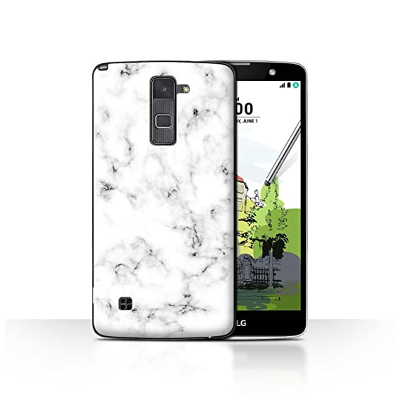 innovative design 7a955 f081e STUFF4 Phone Case / Cover for LG Stylo 2 Plus/MS550/K535 / White Design /  Marble Rock Granite Effect Collection