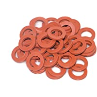 Hourleey Garden Hose Washer Rubber, Heavy Duty Red Rubber Washer Fit All Standard 3/4 Inch Garden Hose Fittings, 30 Packs