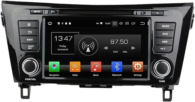 Android 9.0 Octa Core Autoradio Radio DVD GPS navegación Reproductor multimedia estéreo de coche para Nissan Qashqai X-TRAIL 2014 control de volante: Amazon.es: Electrónica