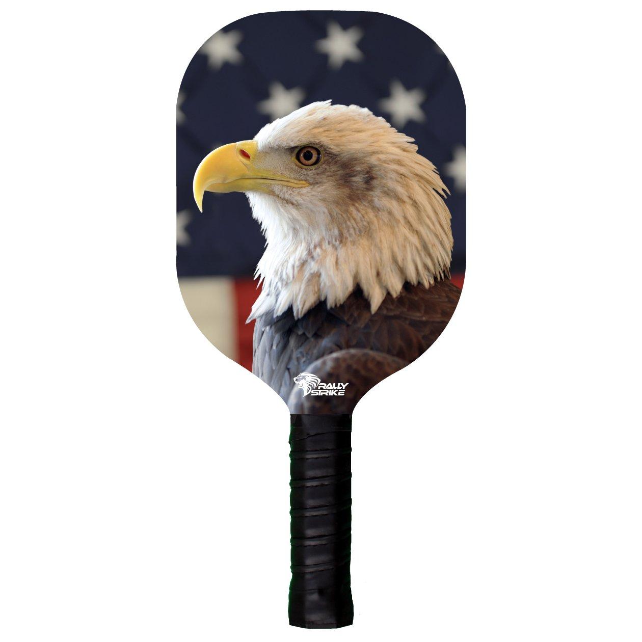 Bandera de Estados Unidos Eagle de madera Pickleball paleta ...